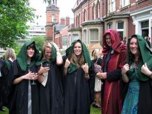 A rainy graduation day