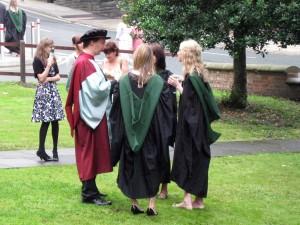 Mark & gang at the Theatre Studies graduation celebration