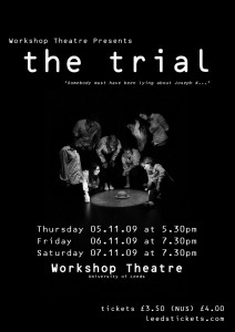 workshop theatre production of the trial
