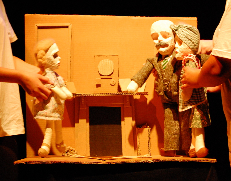 puppet theatre on light night