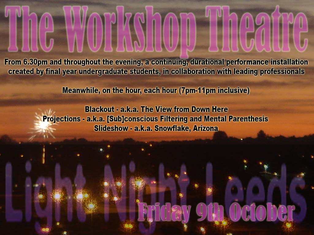 light night at the workshop theatre