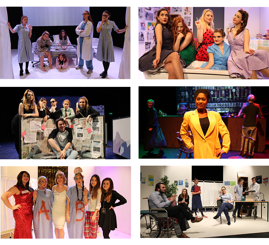 montage of theatre studies productions